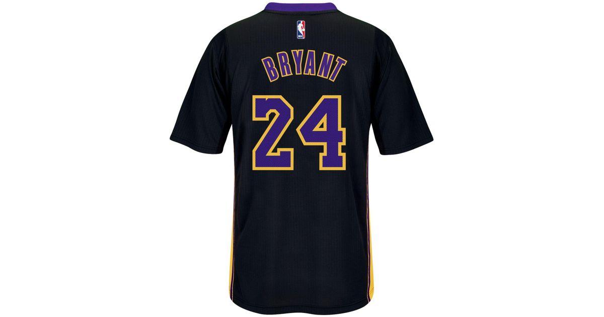 771e0996e25 adidas Originals Men s Short-sleeve Kobe Bryant Los Angeles Lakers Swingman  Jersey in Black for Men - Lyst