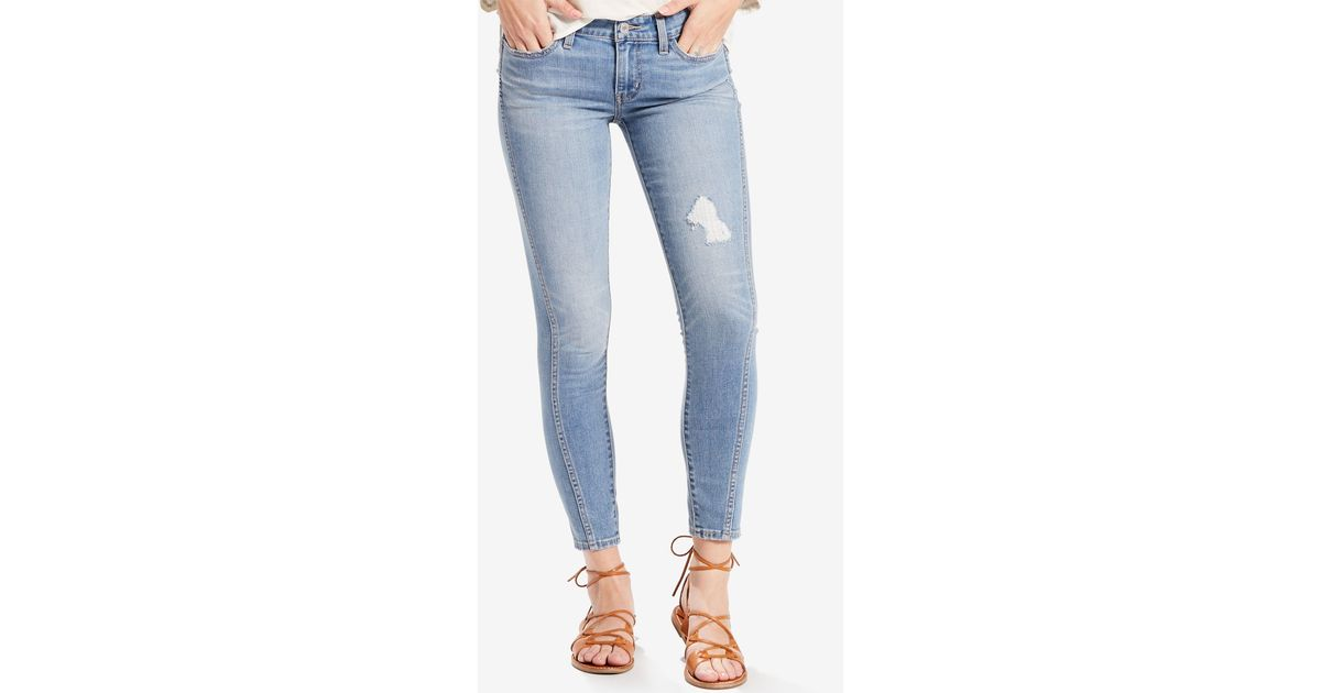 Levi S 711 Twisted Seam Skinny Jeans In Blue Light Blue