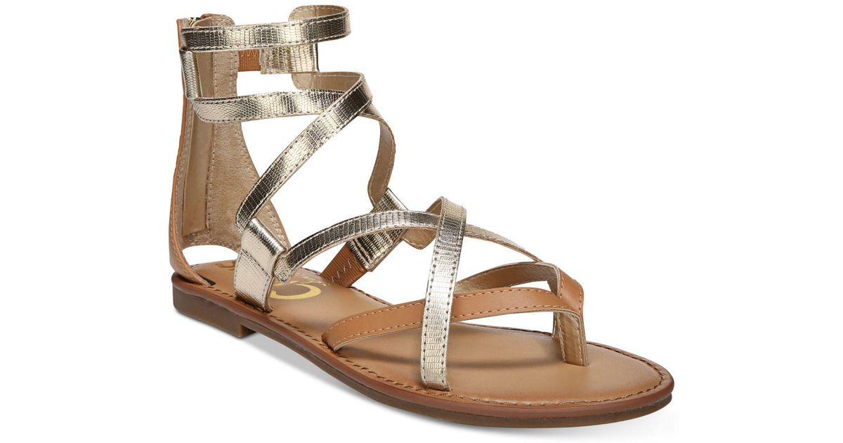 56789c2eec9cb2 Lyst - Circus by Sam Edelman Bevin Gladiator Sandals in Metallic