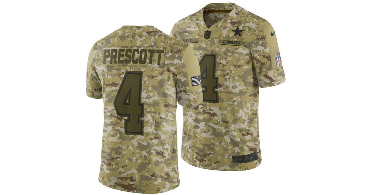 81c51e7c8f4 Nike Dak Prescott Nfl Salute To Service Limited Jersey in Green for Men -  Save 62% - Lyst