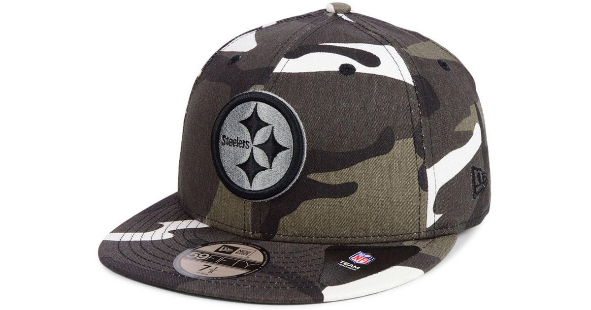 fa729dc2070 Lyst - KTZ Pittsburgh Steelers Urban Prism Pack 59fifty-fitted Cap in Black  for Men