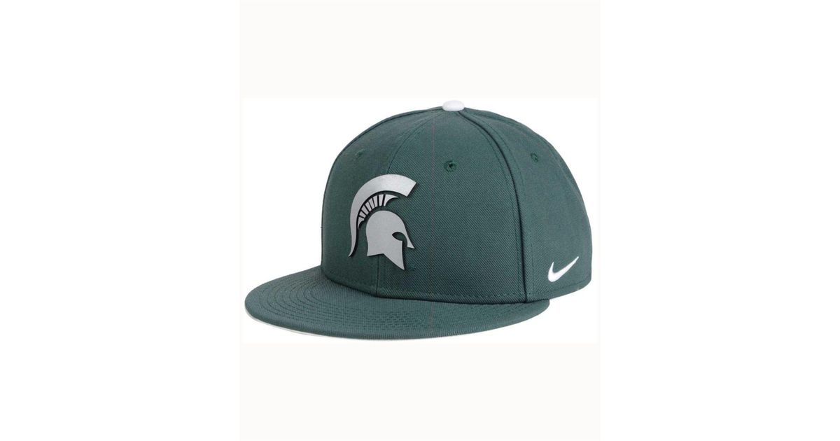 new arrival 3ac2a 1bedf ... sweden lyst nike michigan state spartans true reflective snapback cap  in green for men 22506 2822b