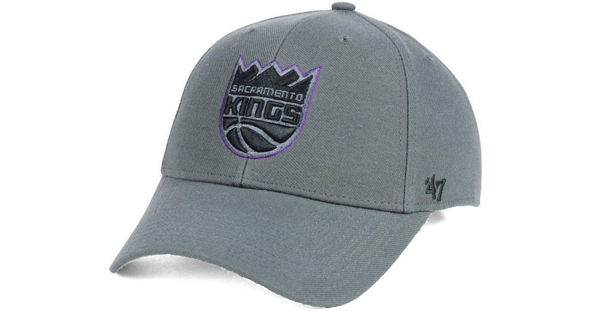 wholesale dealer 2922a 11f07 Lyst - 47 Brand Sacramento Kings Charcoal Pop Mvp Cap in Gray for Men