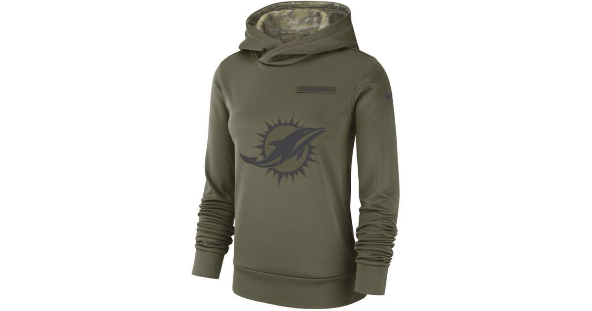c09b5b787 Lyst - Nike Miami Dolphins Salute To Service Therma Hoodie in Green