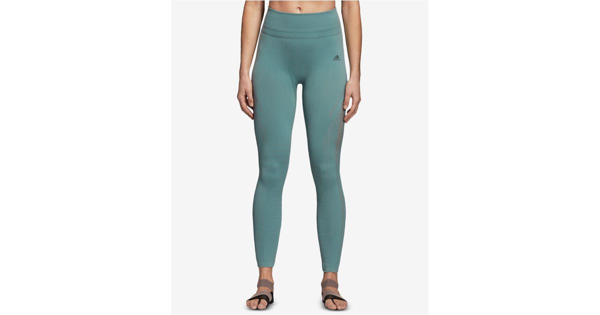 a4546403f75a43 adidas Warp-knit High-rise Ankle Leggings in Green - Lyst