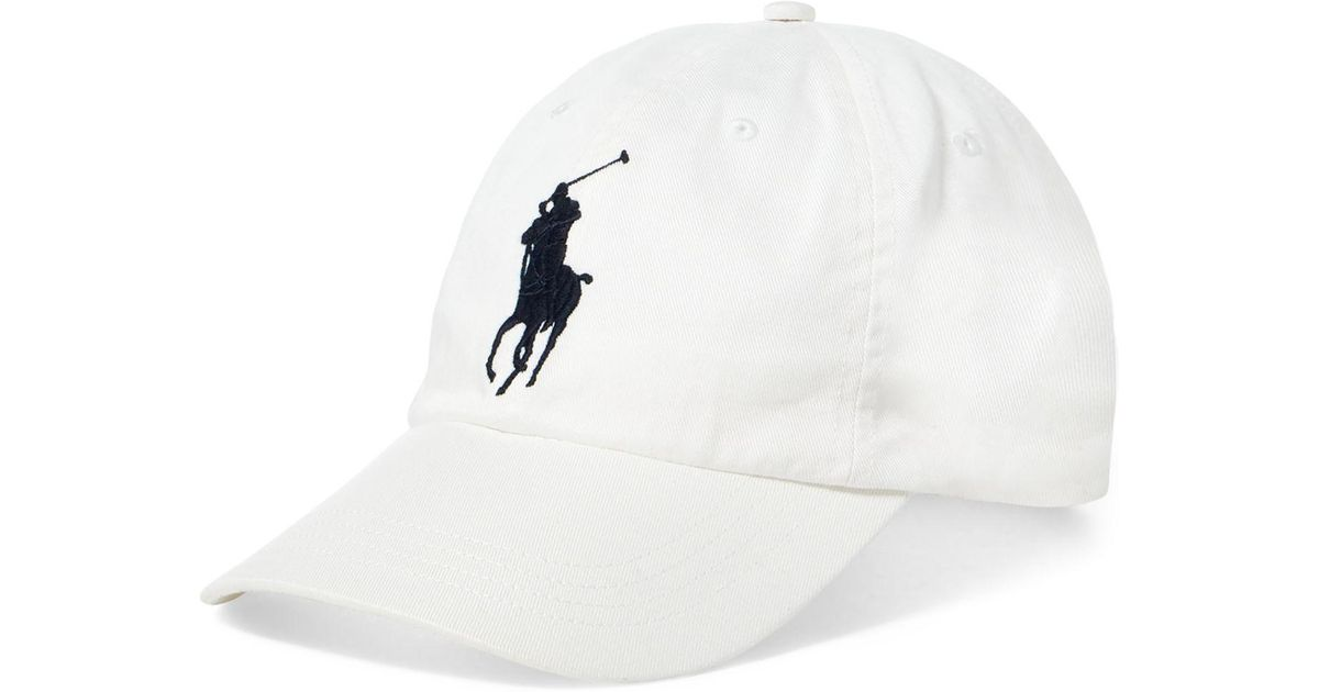 d7a242a47cc Lyst - Polo Ralph Lauren Athletic Twill Cap in White for Men