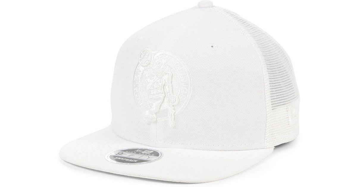 af92688f KTZ Boston Celtics Dub Fresh Trucker 9fifty Snapback Cap in White for Men -  Lyst