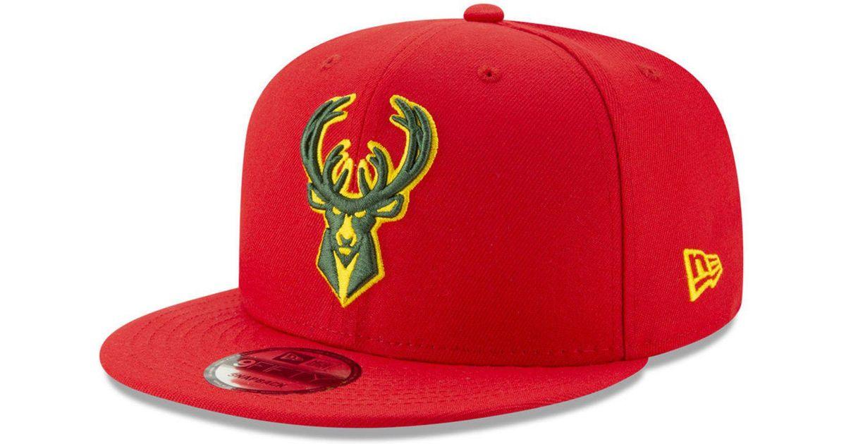 info for ac128 65d16 KTZ Milwaukee Bucks City Pop Series 9fifty Snapback Cap in Red for Men -  Lyst