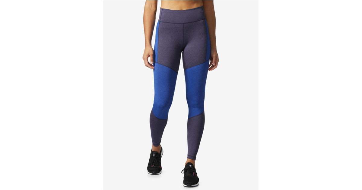 3e57846df74 Lyst - adidas Climalite® High-rise Compression Leggings in Blue