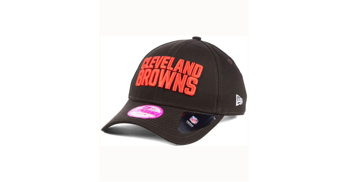 the latest d76cb ac56c ... australia lyst ktz womens cleveland browns glitter glam 2.0 9forty cap  in brown for men b62eb