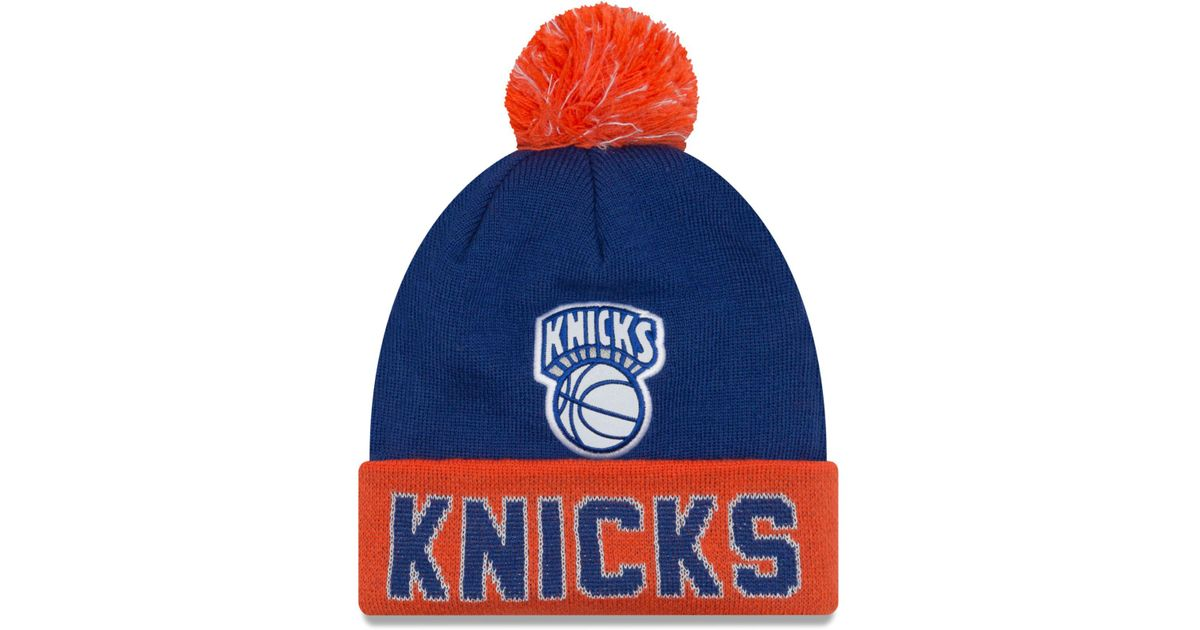 online store 70369 be23c Lyst - KTZ New York Knicks Hardwood Court Big Reflective Knit Hat in Blue  for Men