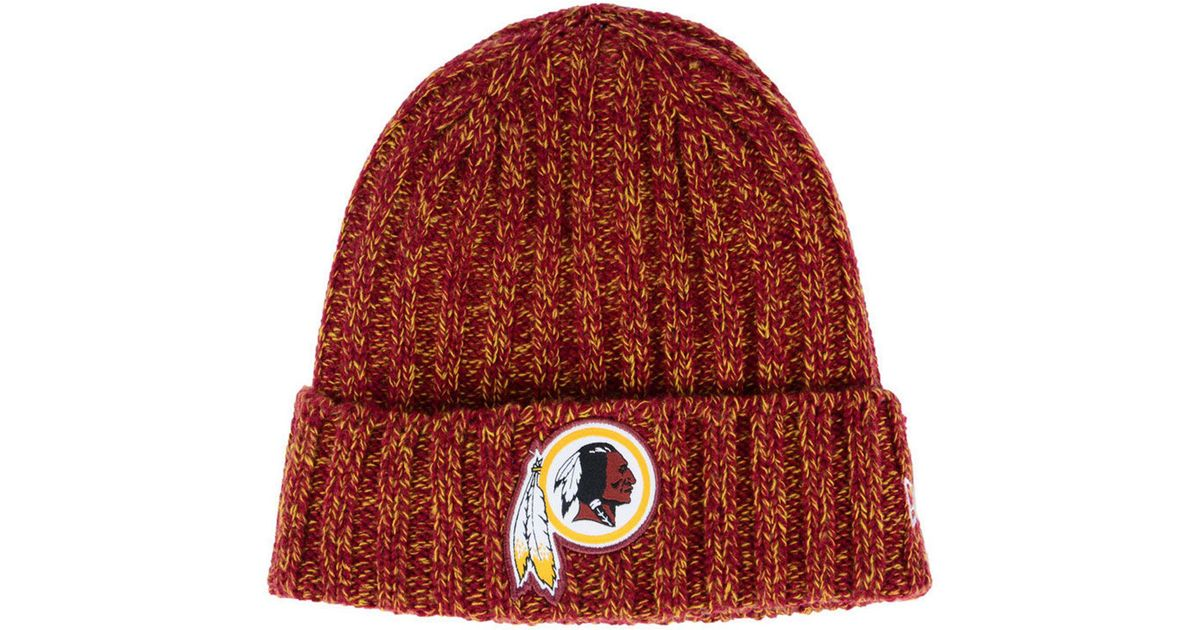 new style cb53d 2d7b0 Lyst - KTZ Washington Redskins On Field Knit Hat in Red