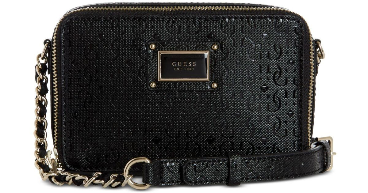 a8dbf3f323 Guess Shannon Mini Crossbody Camera Bag in Black - Lyst