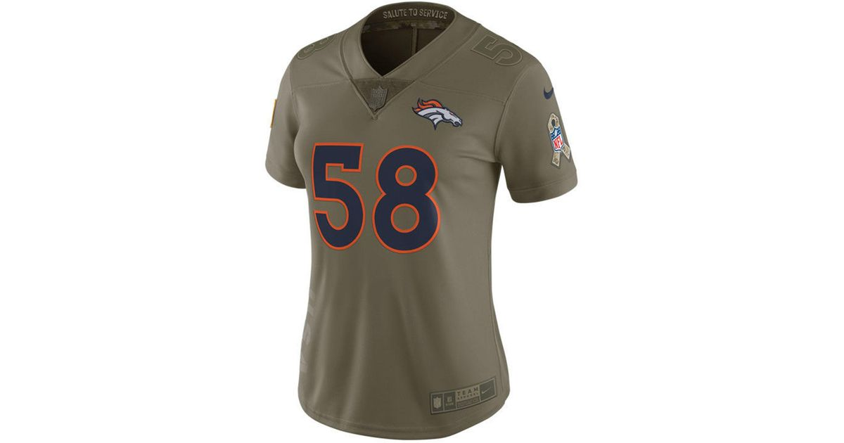 Lyst - Nike Von Miller Denver Broncos Salute To Service Jersey in Green 6be0ca991