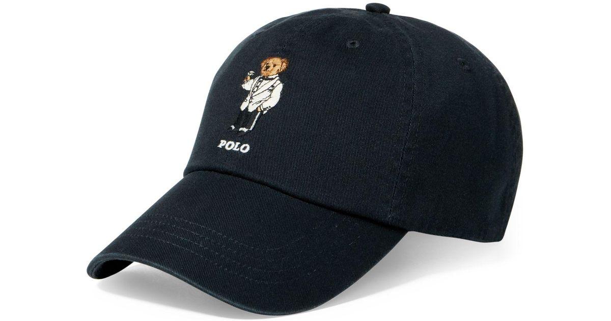 Lyst - Polo Ralph Lauren Men s Polo Bear Cotton Cap in Blue for Men 8d0f6430ca2c
