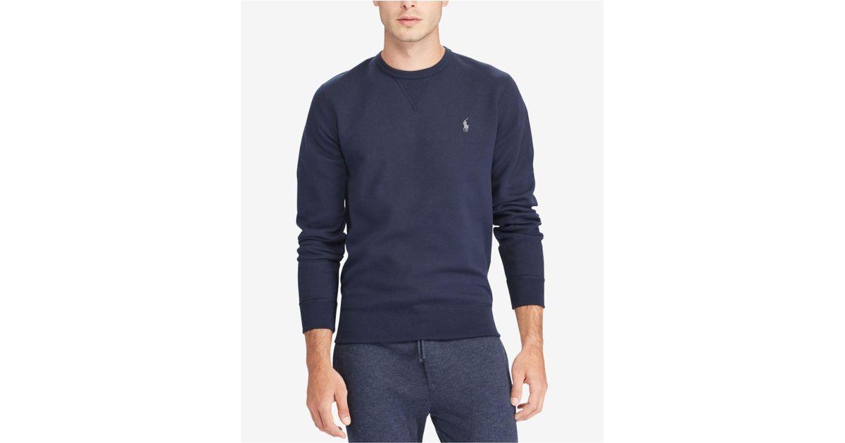 07d51c697 Polo Ralph Lauren Men s Double-knit Sweatshirt in Blue for Men - Lyst