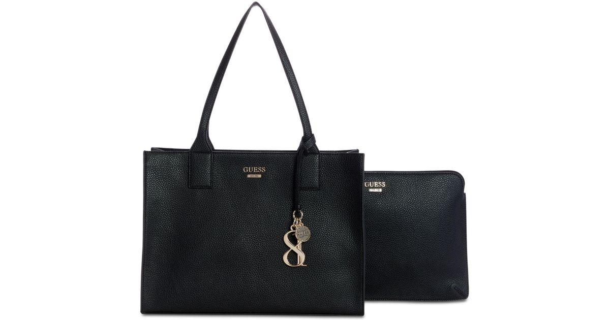 576a110105bc4 Lyst - Guess West Side Tote With Laptop Sleeve in Black