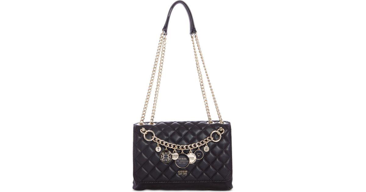 Lyst - Guess Victoria Chain Shoulder Bag