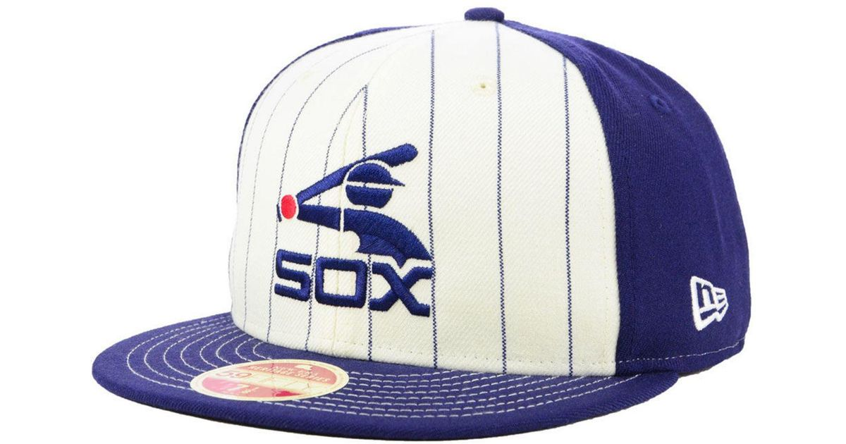 Lyst - KTZ Chicago White Sox Vintage Front 59fifty Fitted Cap in White for  Men f76b1032e9b