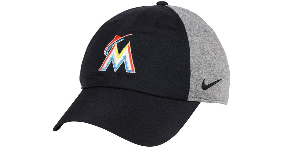 best website 8567e 8ece6 Lyst - Nike Miami Marlins New Day Legend Cap in Black for Men