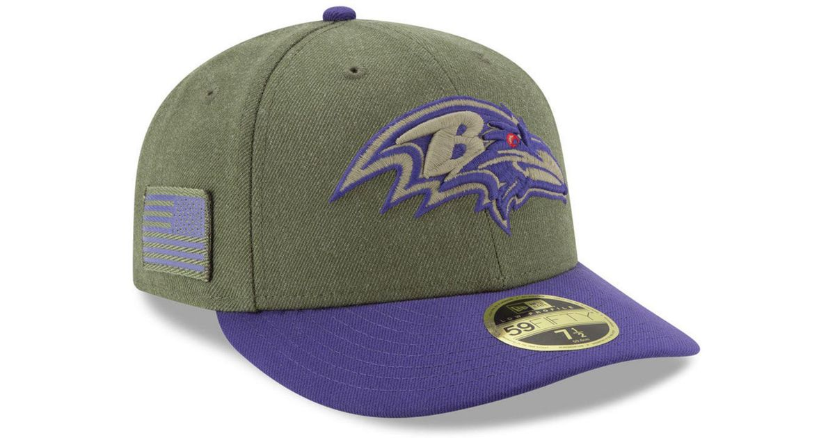 Lyst - KTZ Baltimore Ravens Salute To Service Low Profile 59fifty Fitted Cap  2018 in Green for Men c1b4870acdda