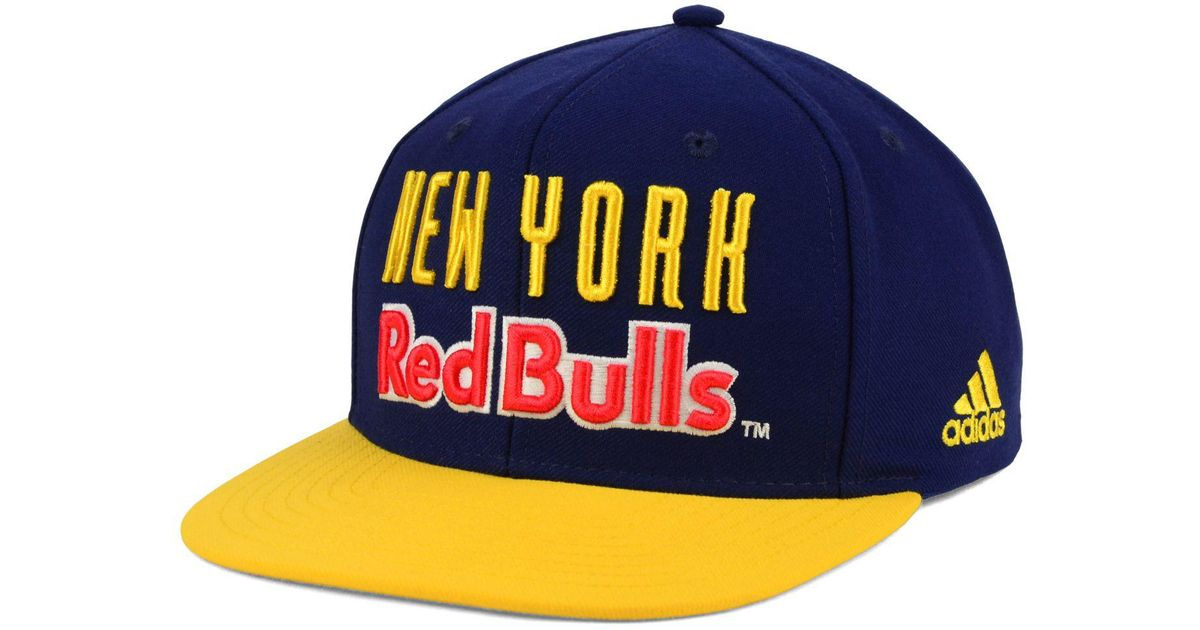 f7aa7ecf Lyst - adidas Originals New York Red Bulls Jersey Snapback Cap in Yellow  for Men
