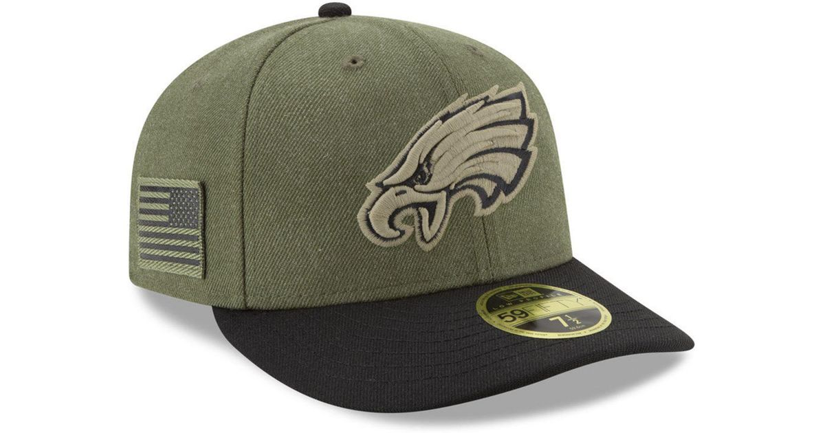 5f814a533d9 Lyst - KTZ Philadelphia Eagles Salute To Service Low Profile 59fifty Fitted  Cap 2018 in Green for Men