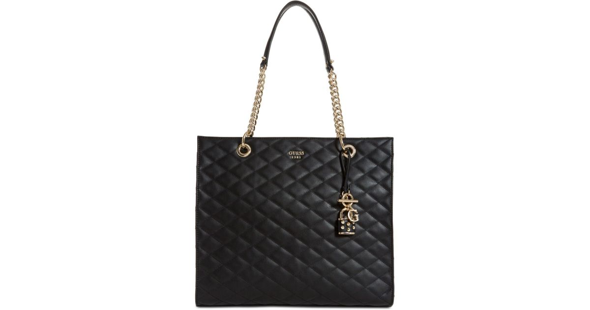 9c9ad42698 Lyst - Guess Penelope Large Tote in Black
