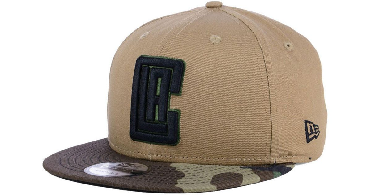 timeless design b01b1 f18ef Lyst - KTZ Los Angeles Clippers Camo Tipping 9fifty Snapback Cap for Men