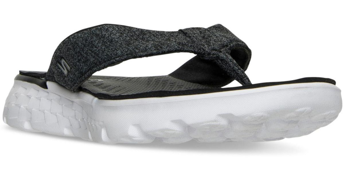 766b57770a Skechers Women's On The Go - Vivacity Flip Flop Thong Sandals From Finish  Line in Black - Lyst