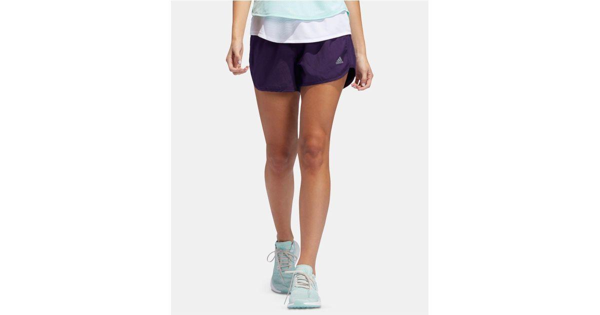 Adidas Purple M20 Climacool® Reflective Running Shorts Lyst