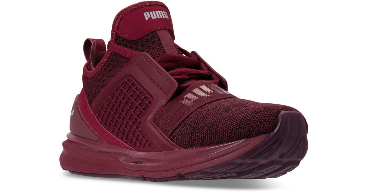 7aa1d7184c411a Lyst - PUMA Men s Ignite Limitless Knit Casual Sneakers From Finish Line in  Red for Men