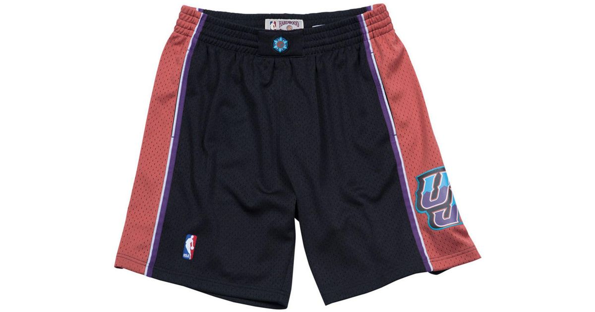 Lyst - Mitchell   Ness Utah Jazz Authentic Nba Shorts in Black for Men 80d56e503489