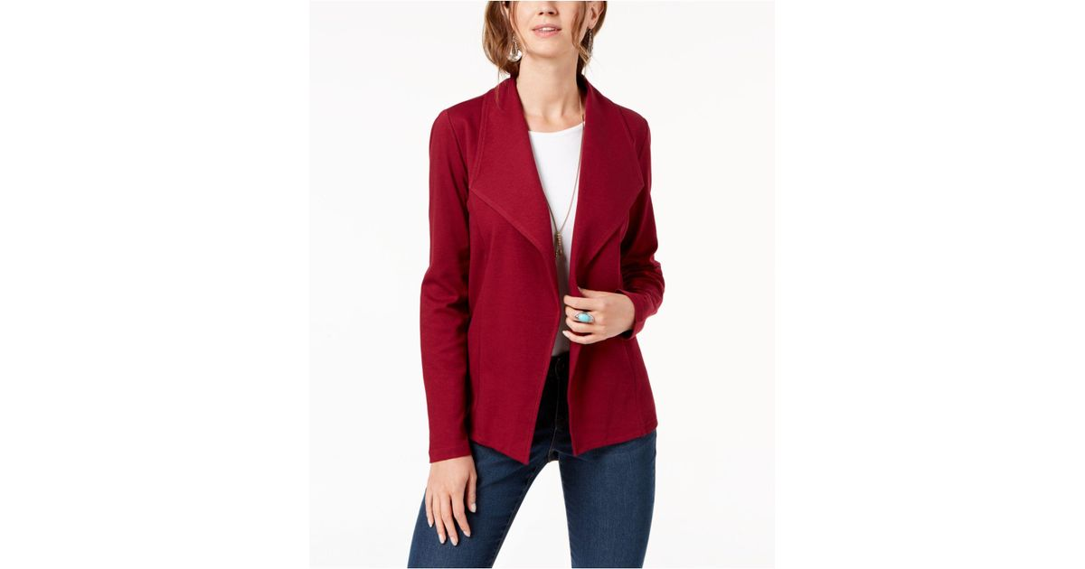 8e134ad80fd83 Lyst - Style & Co. Knit Blazer, Created For Macy's in Red