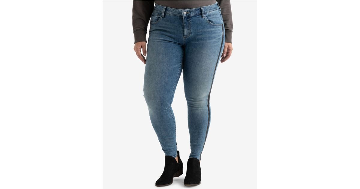 8d2c3e8b0f54e Lyst - Lucky Brand Trendy Plus Size Ginger Striped Skinny Jeans in Blue