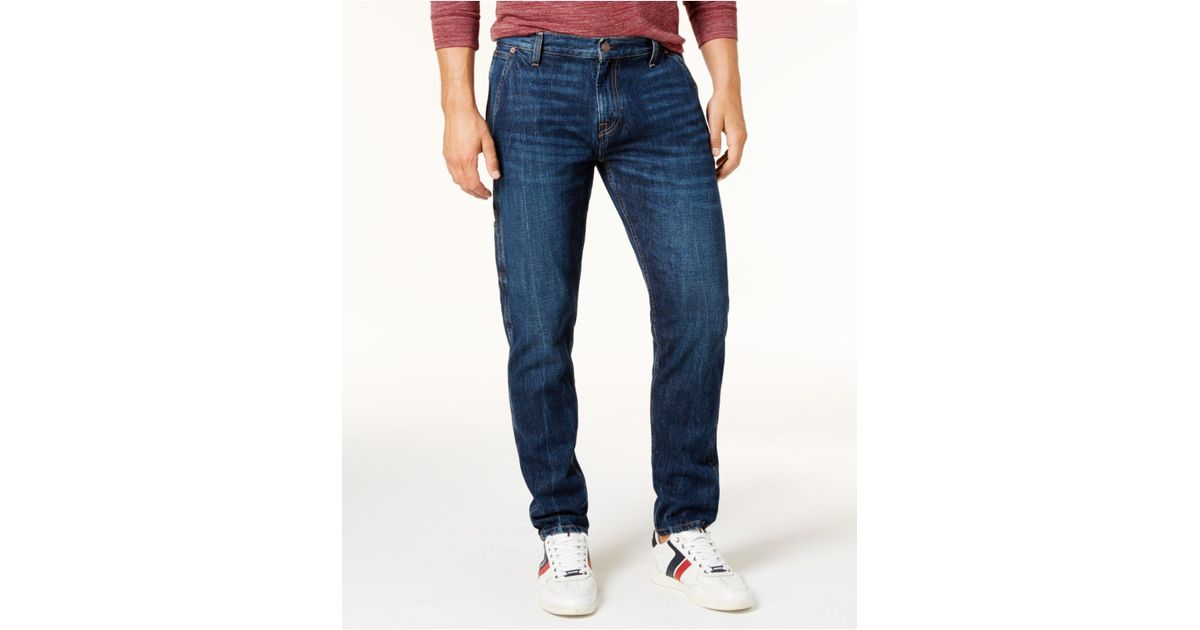 911c7573 Tommy Hilfiger Men's Relaxed Tapered Carpenter Jeans in Blue for Men - Lyst