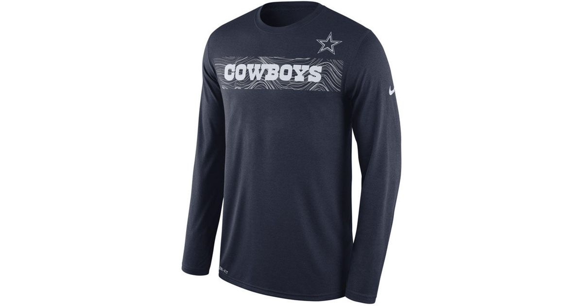 Lyst - Nike Dallas Cowboys Legend On-fileld Seismic Long Sleeve T-shirt in  Blue for Men a5c576d17