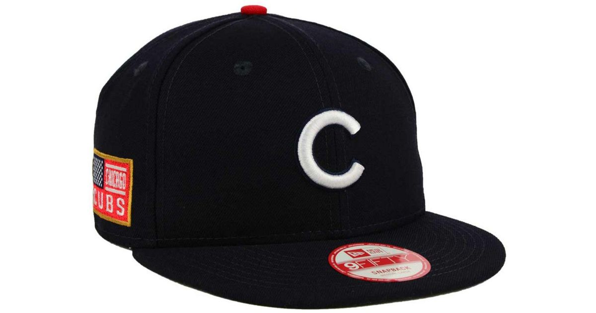 02608071f Lyst - KTZ Chicago Cubs All American Patch 9fifty Snapback Cap in Black for  Men