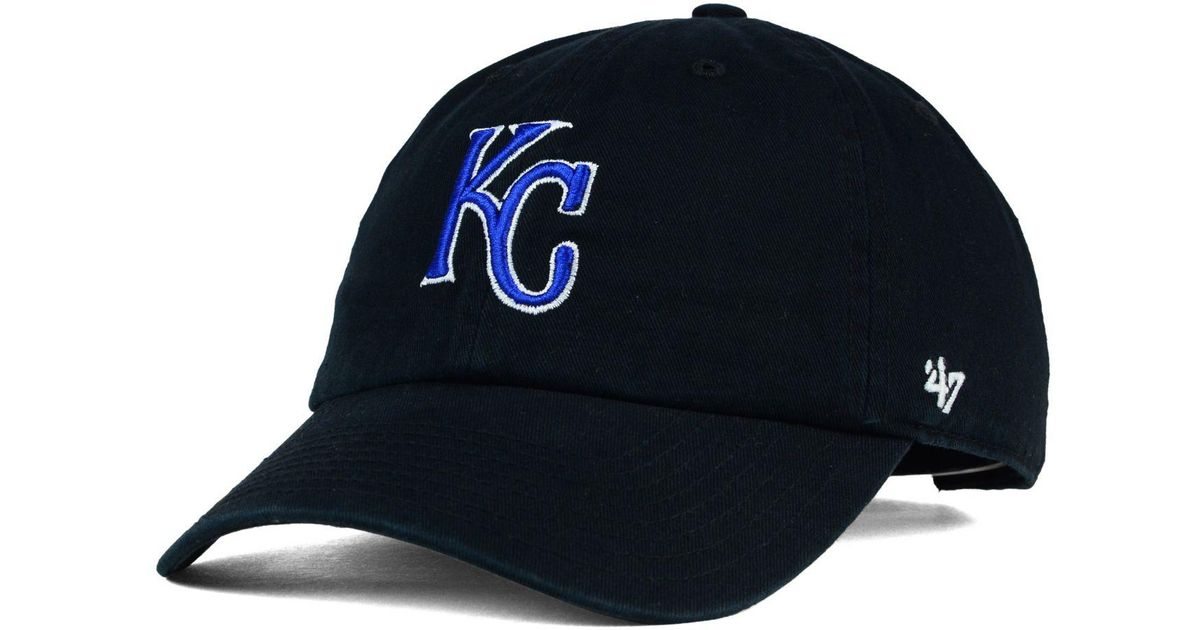 e603aa49129 Lyst - 47 Brand Kansas City Royals Core Clean Up Cap in Black for Men