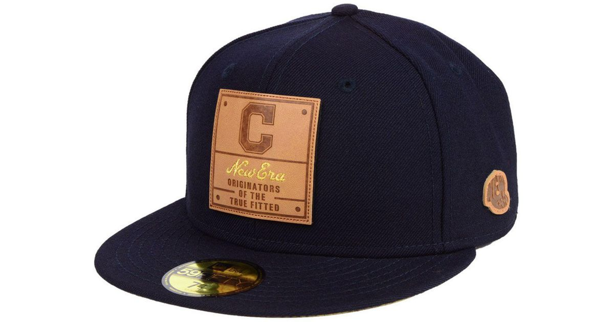 size 40 d8fad 6567d ... australia lyst ktz cleveland indians vintage team color 59fifty fitted  cap in blue for men 61851