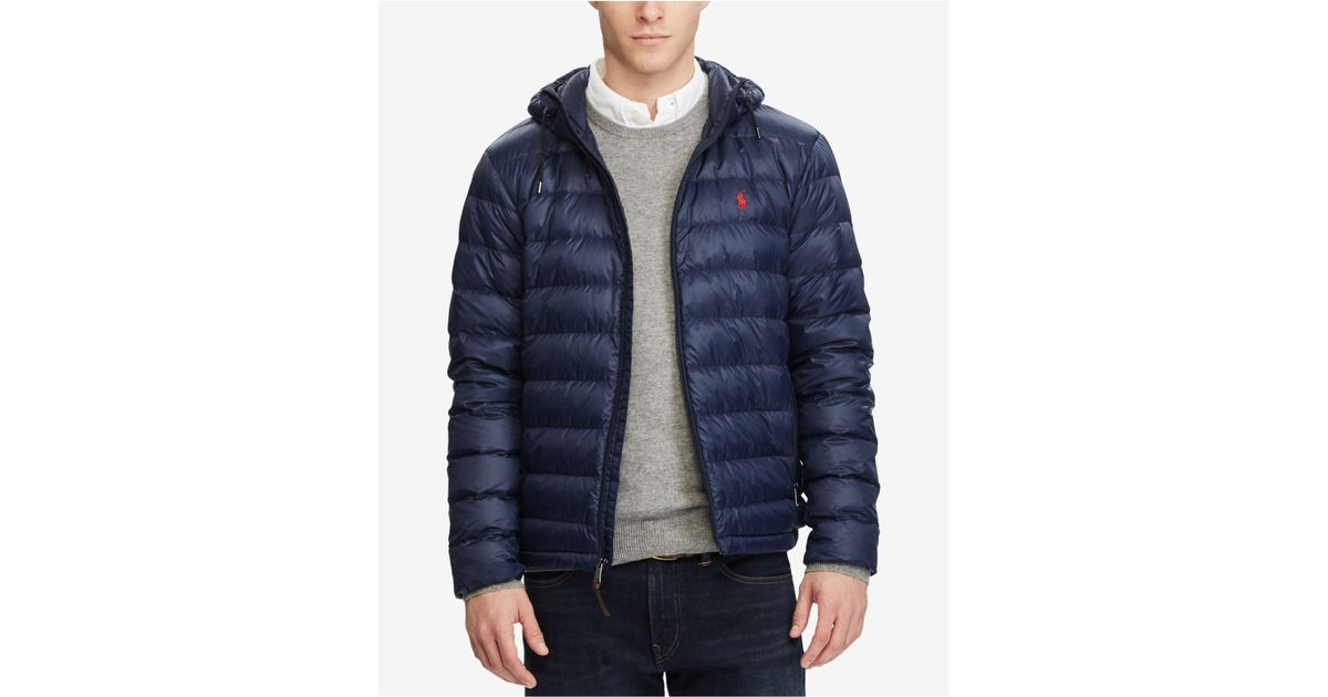 b23888120b7c Lyst - Polo Ralph Lauren Men s Packable Down Jacket in Blue for Men
