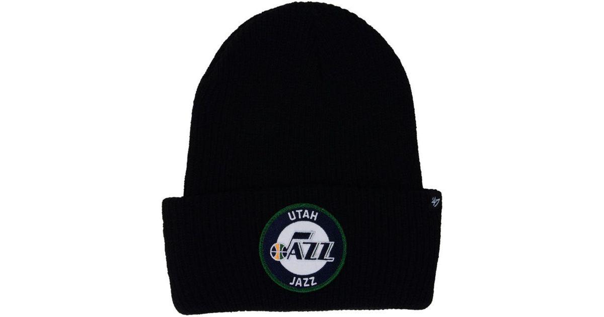 low priced 3afbf 1e458 ... sale lyst 47 brand ice block cuff knit hat in black for men da133 aab2a