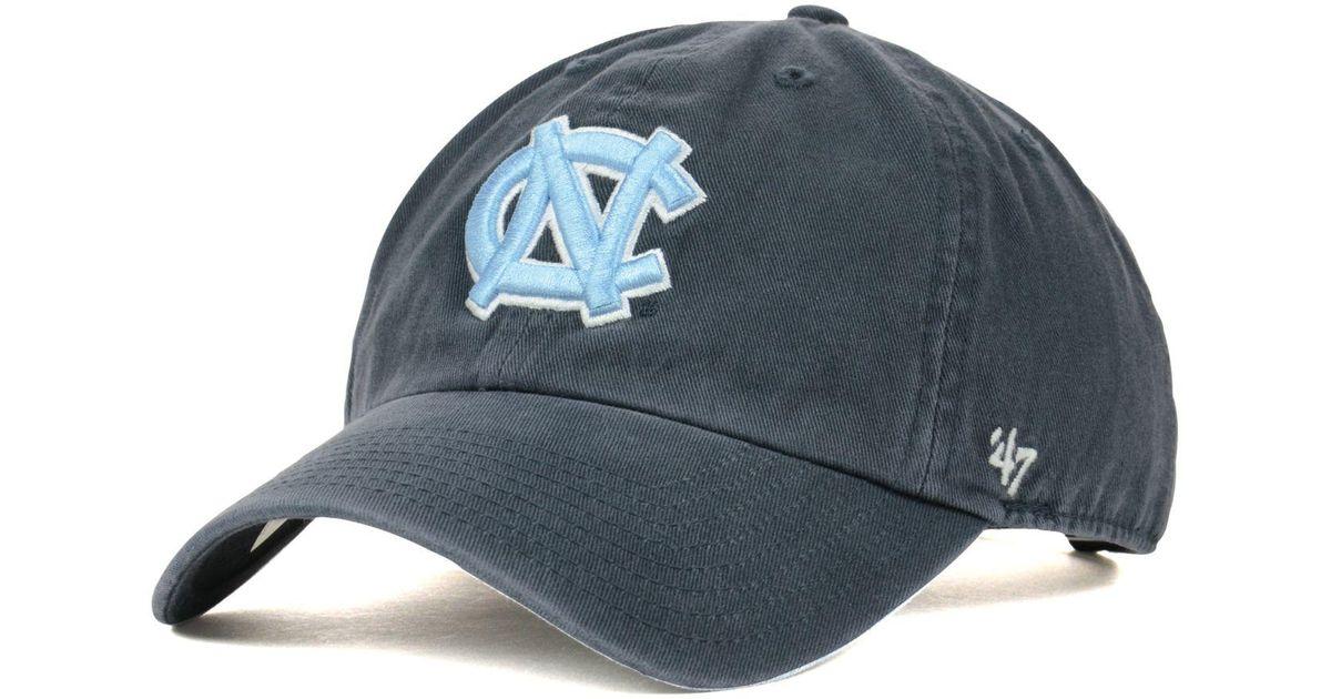 buy popular f77aa 72ec8 ... reduced lyst 47 brand north carolina tar heels ncaa clean up cap in  blue for men