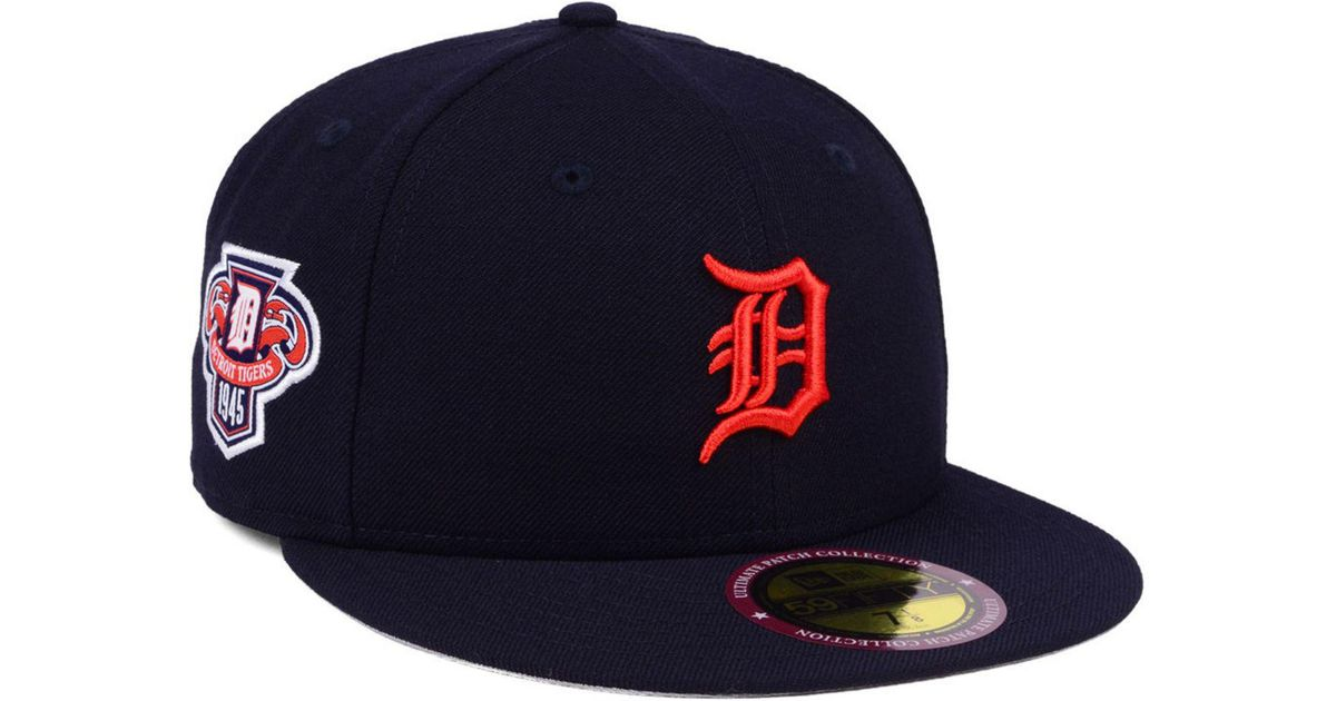 best service 2701e de9b7 KTZ Detroit Tigers Ultimate Patch Collection Anniversary 59fifty Cap in  Blue for Men - Lyst