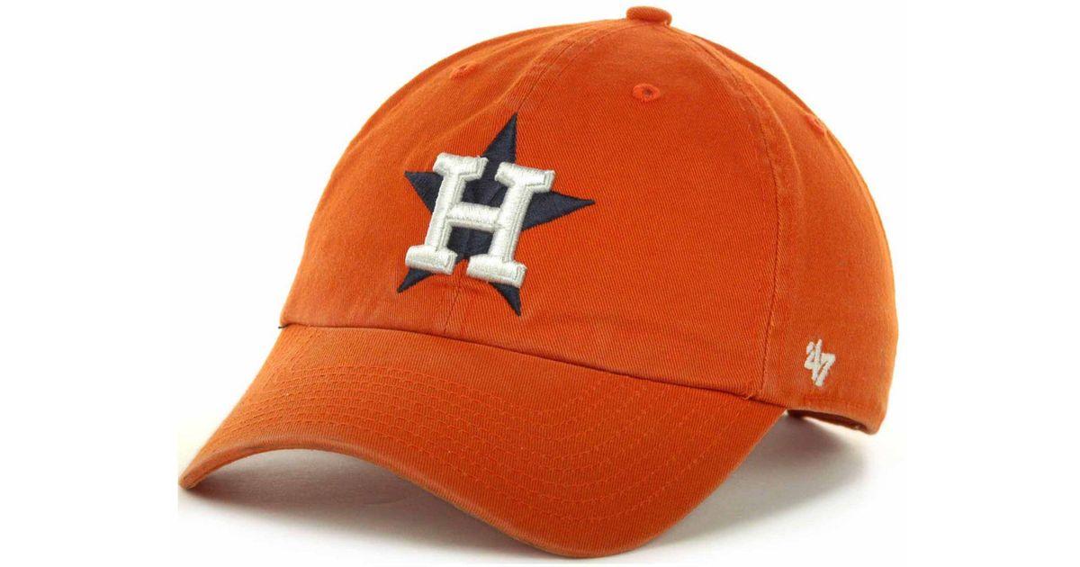 72498da3f1057 Lyst - 47 Brand Houston Astros Clean Up Hat in Orange for Men