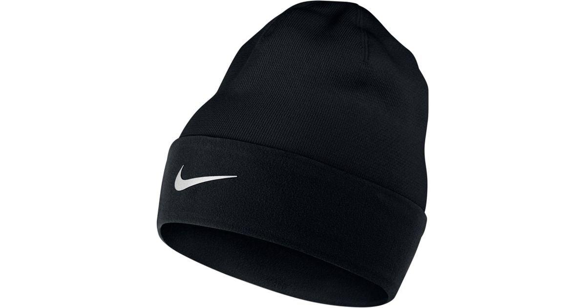 Lyst - Nike Cuffed Dri-fit Run Beanie in Black for Men 7bff8f2b71e
