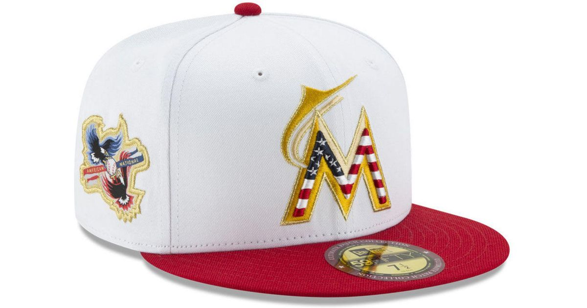 e31fafe25d3 Lyst - KTZ Miami Marlins Americana Ultimate Patch Collection 59fifty Cap  for Men