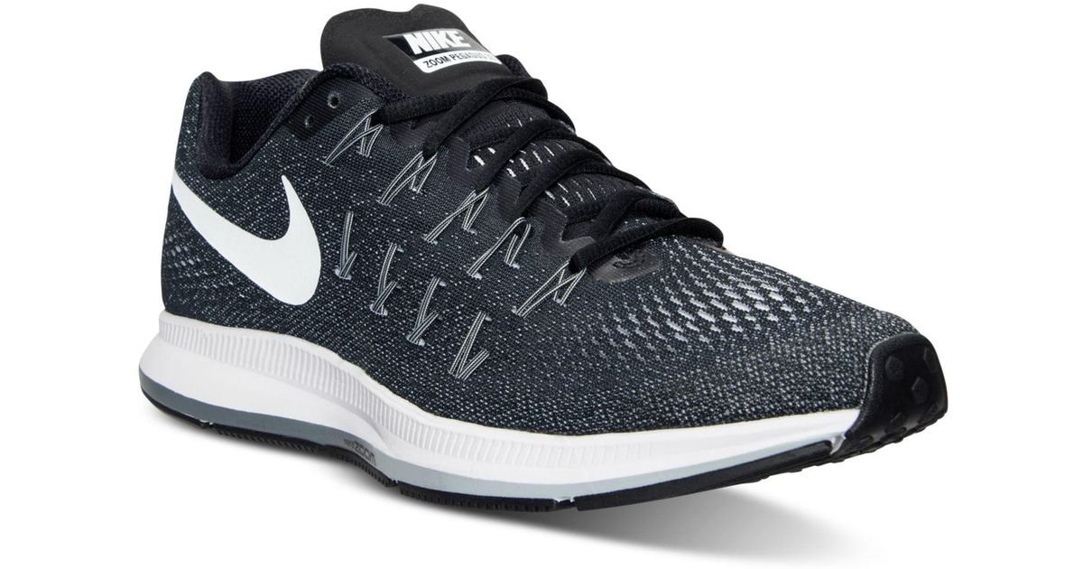 0285dd33a223c Lyst - Nike Men s Air Zoom Pegasus 33 Running Sneakers From Finish Line in  Black for Men