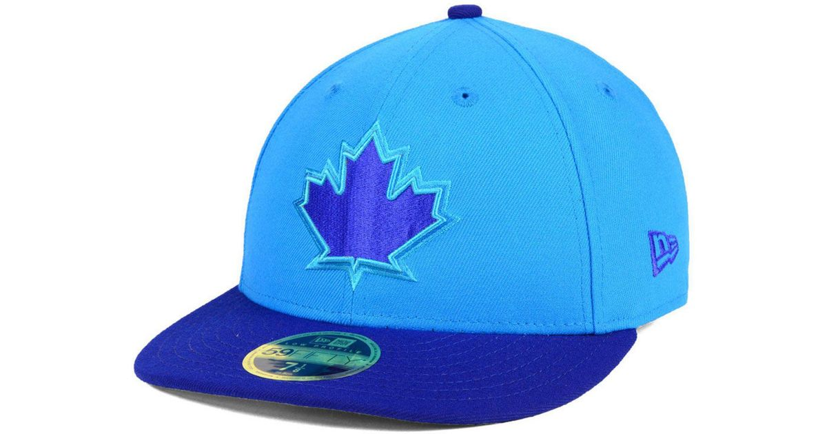 e74dedbc9f4 ... low cost lyst ktz toronto blue jays players weekend low profile 59fifty  fitted cap in blue