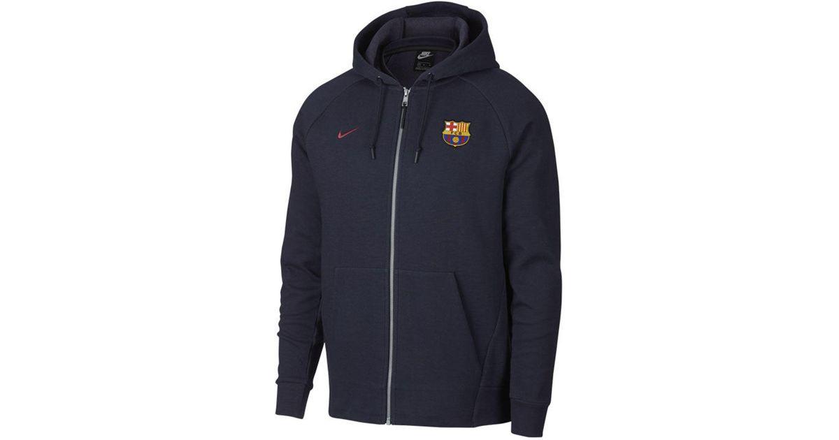 93606addbde Nike Fc Barcelona Club Team Full-zip Optic Hoodie in Blue for Men - Lyst